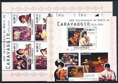 263833) Mocambique Klbg. Nr.4087-4094+block 377** Gemälde Caravaggio Moderate Kosten