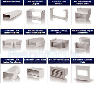 Flat-Rectangular-Plastic-Ducting-Fitting-Ventilation-Extractor-Fan-Bath-Kitchen