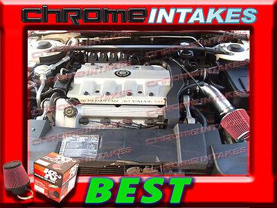 1996 1997 1998 1999//96-99 OLDSMOBILE AURORA 4.0 4.0L V8 AIR INTAKE KIT Black Red