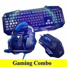 ARES K3 7 Illuminated Gaming Keyboard G2000 Blue Headset 3200 DPI Mouse Bundles
