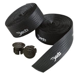 Deda Elementi Mistral Synthetic Leather Handlebar Tape Black Road Drop Bar Bike