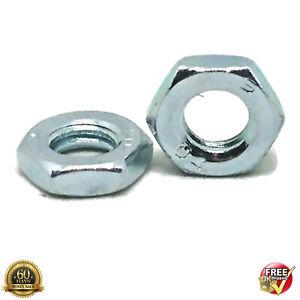 M10 THIN HALF LOCK NUTS GRADE 4 BRIGHT ZINC PLATED DIN 439 10mm