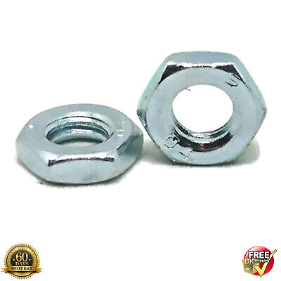 A2 Stainless Steel 10mm Metric FINE PITCH HALF Nuts M10 Lock Thin DIN 439