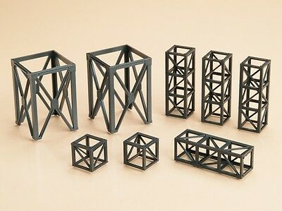 Auhagen 48576- 8 Steel Struttura Nero Kit Di Plastica Ho/oo/tt Tieniti In Forma Per Tutto Il Tempo