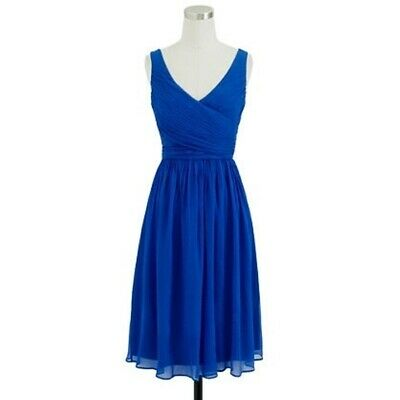 J.Crew Heidi Dress Navy Blue $365 NWT Bridesmaid Formal Long 00 93075 REDUCED!