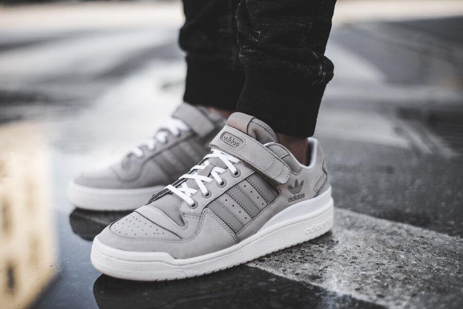 Adidas Originals Forum Lo Vapor Grey Core White Low shoes Sneakers BY3650 sz 9