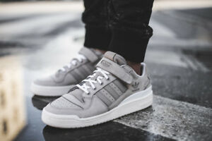low priced 80532 0096f Image is loading Adidas-Originals-Forum-Lo-Vapor-Grey-Core-White-