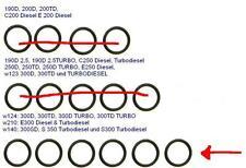 MERCEDES O-RINGE ESP DIESEL EINSPRITZPUMPE w124 w210 w140 E300 300 300D 350 s300