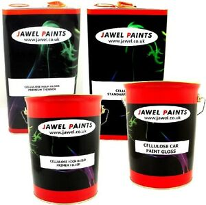 Cellulose Car Paint - Jawel Primer & Thinner RAL1018 SIGNAL YELLOW 20lt  Kit