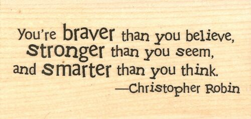 Christopher Robin Quote Wood Mounted Rubber Stamp IMPRESSION OBSESSION C3740 New