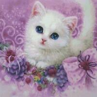Cute Little Cat 5d Diy Diamond Painting Embroidery Cross Stitch Craft Decoration on sale