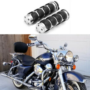 CHROME RUBBER CRUISER HAND GRIPS HARLEY ELECTRA GLIDE ROAD KING STREET SOFTAIL
