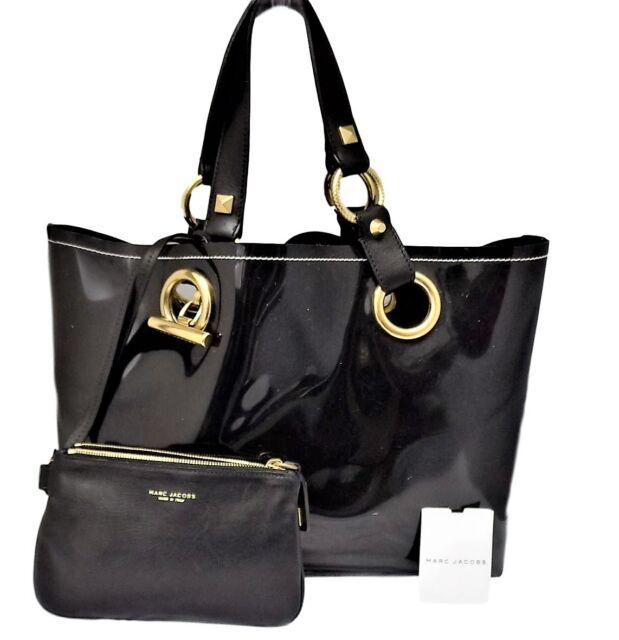 a7288a744c25 Marc Jacobs Black Tote Bag Patent Handbag for sale online