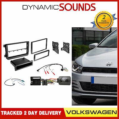 Single Din Car Radio Stereo Facia Fascia Plate Fitting Kit For VW Passat 2005/>