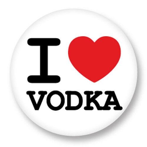 Porte clé Keychain Ø45mm ♥ I Love You j/'aime Vodka Alcool Alcohol