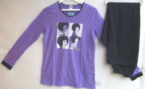 girldruck pantalon noir taille 188 prix recommandé 29,95 € Sanetta Girl pyjama lilas M