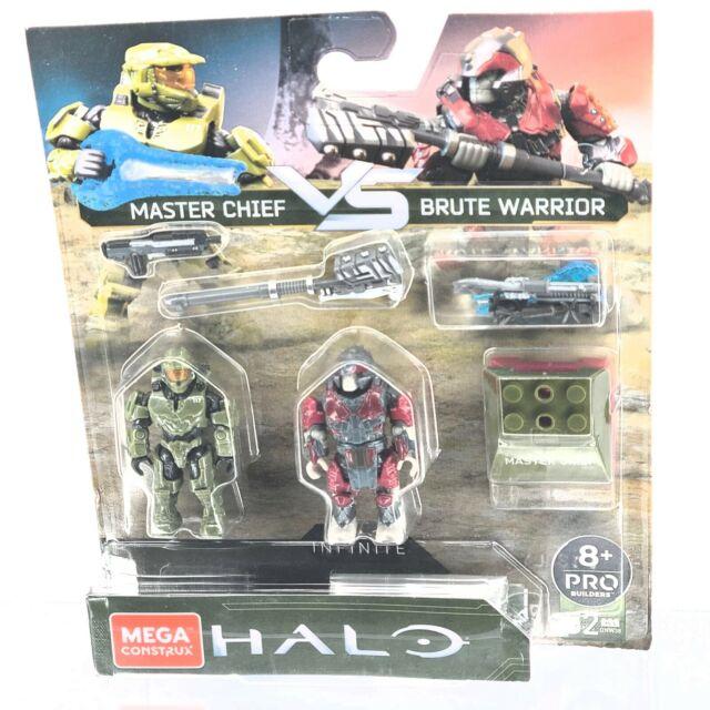 Mega Construx Halo Infinite Master Chief VS Brute Warrior Figure 2-Pack GNW38