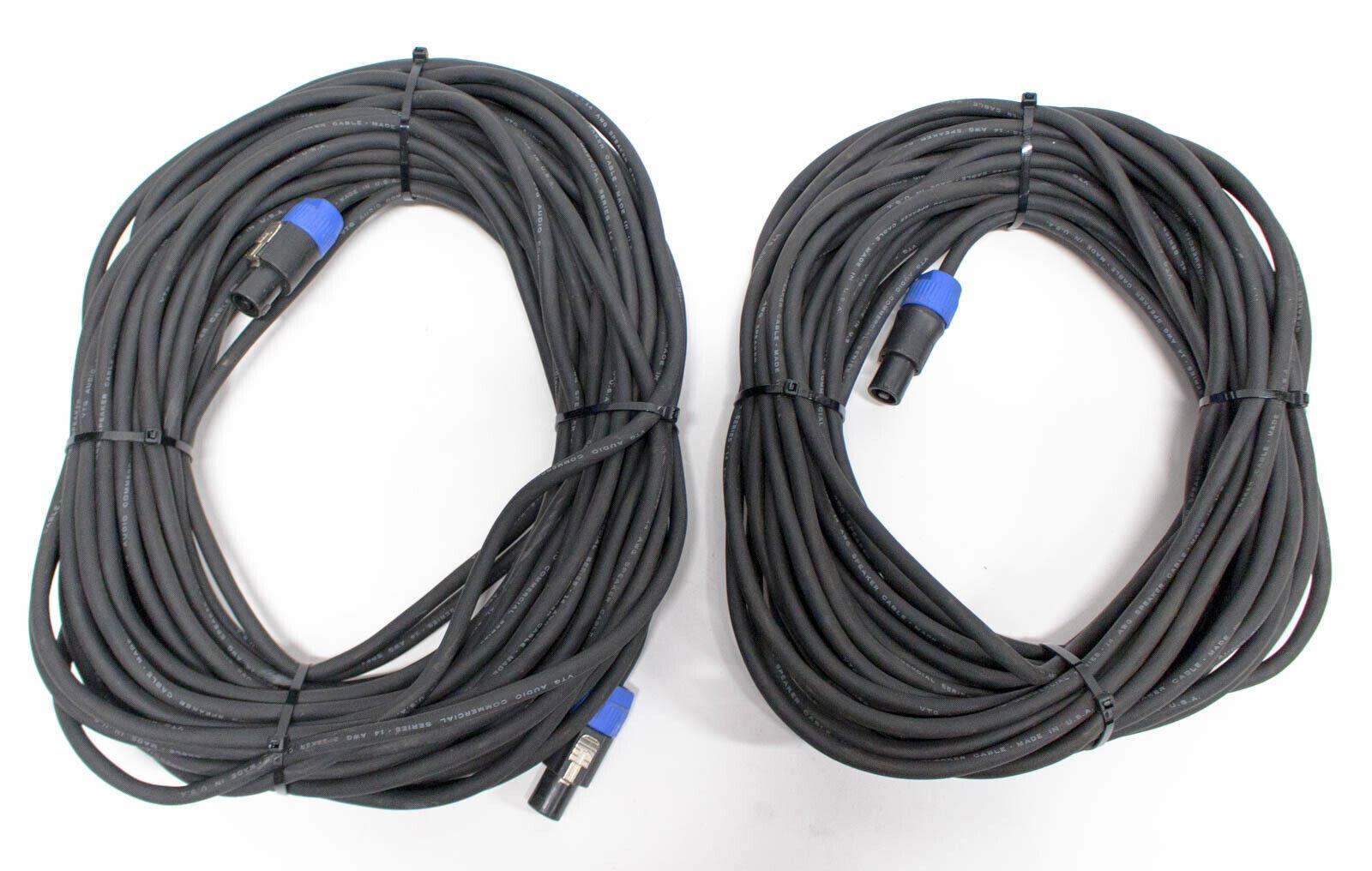 Neutrik NL4FC Speakon to Speakon Cable - 70ft - Set of 2