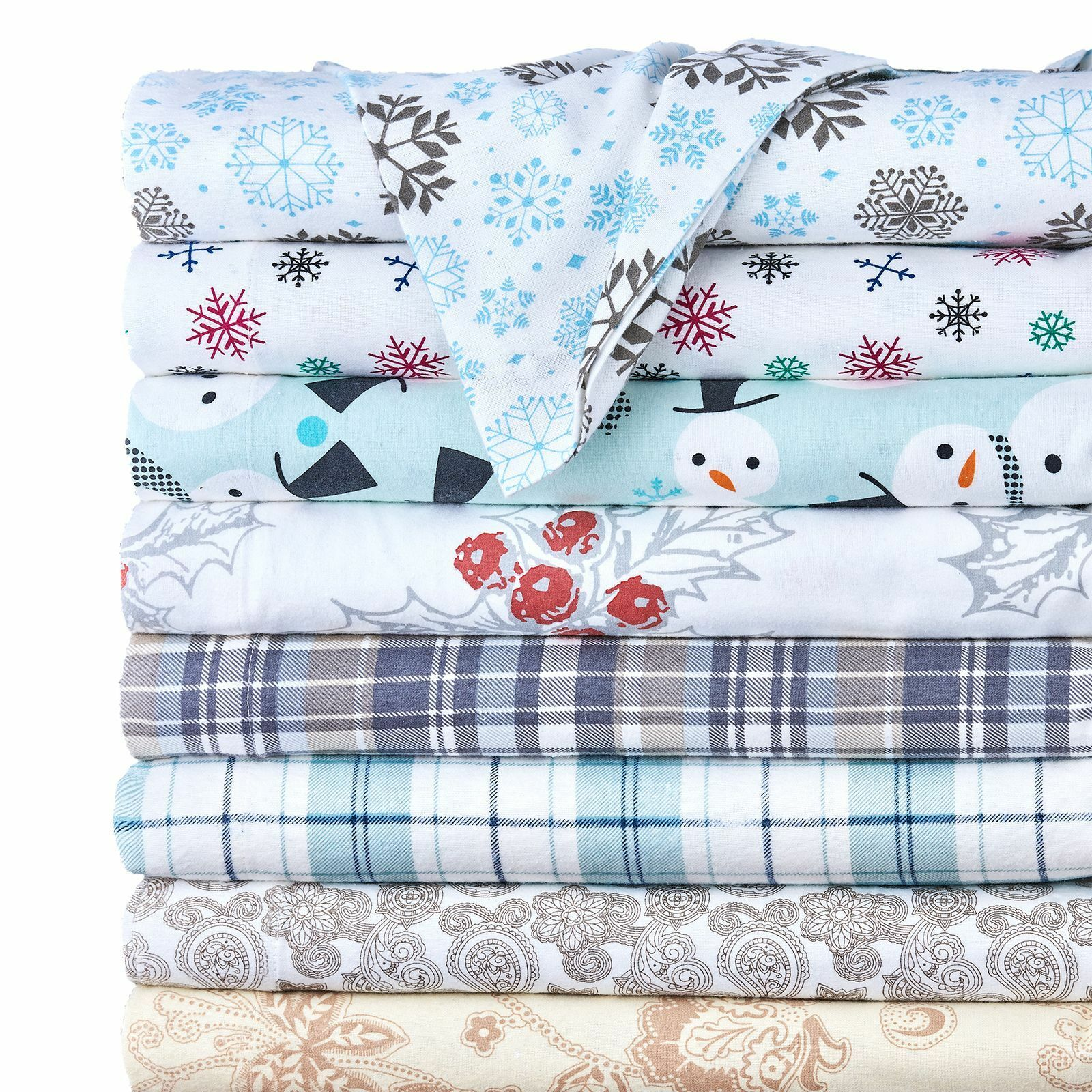 Cal King Soft Flannel Sheets Blue White Polar Bears Christmas Holiday Winter Bed For Sale Online Ebay