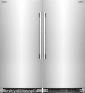 Image Is Loading Frigidaire Pro Stainless Refrigerator Amp Freezer Combo Fpru19f8rf
