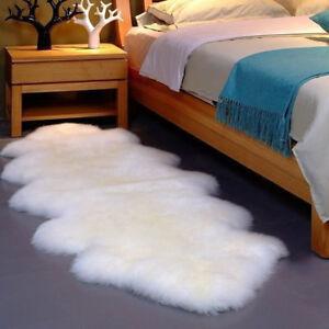 Image Is Loading Double Pelt Large Soft Sheepskin Rug Mat Seat