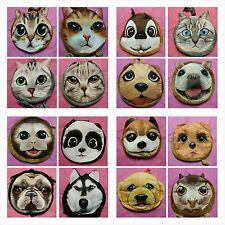 25 Mini Animals Face Purse Women Kids Coin Bag Zipper Wallets Makeup Handbag