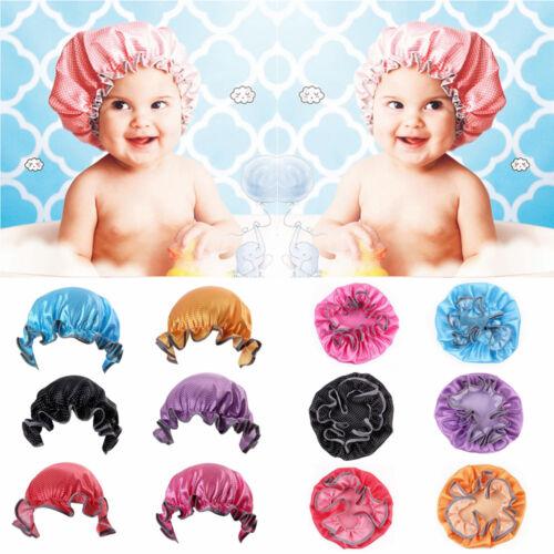 Kids Child Baby  Waterproof Elastic Shower Cap Bathing Hat  Wash Tool