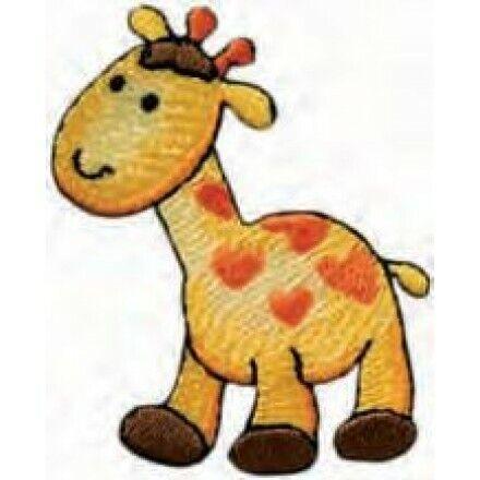 Applikationen Mono Quick Giraffe m Herzflecken ca 2,5x4,0 cm farbig 4497