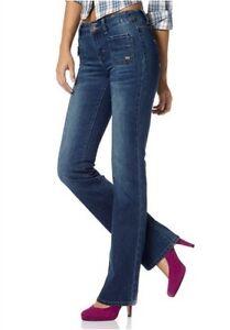 Arizona-Reggae-Bootcut-Jeans-Gr-36-38-40-Damen-Hose-Stretch-Denim-Blue-Black-L32