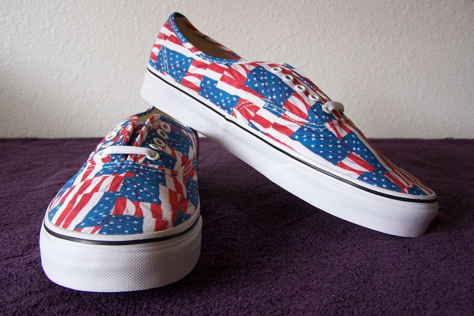 ce787374b644 VANS Authentic USA Flag Red White Blue SNEAKERS 10.5 Men US EUR 44 ...