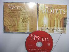 BACH/NEW COLLEGE OXFORD CHOIR/HIGGINBOTTOM: Motets – 2010 UK CD - BARGAIN!