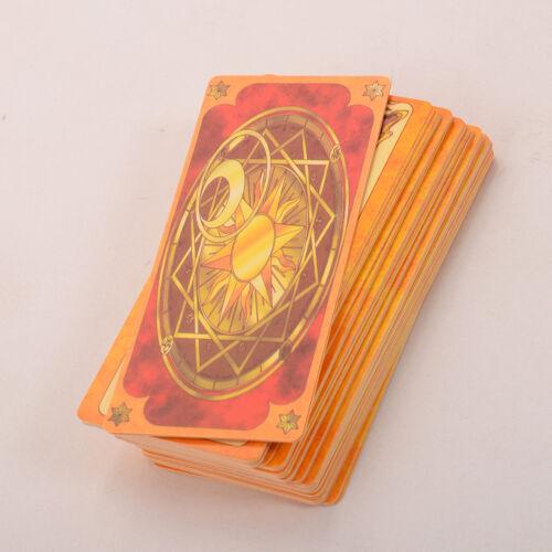 1PC Clow Card Red Tarot Cards Deck 56 Cards Set Anime Card Captor Sakura Cosplay
