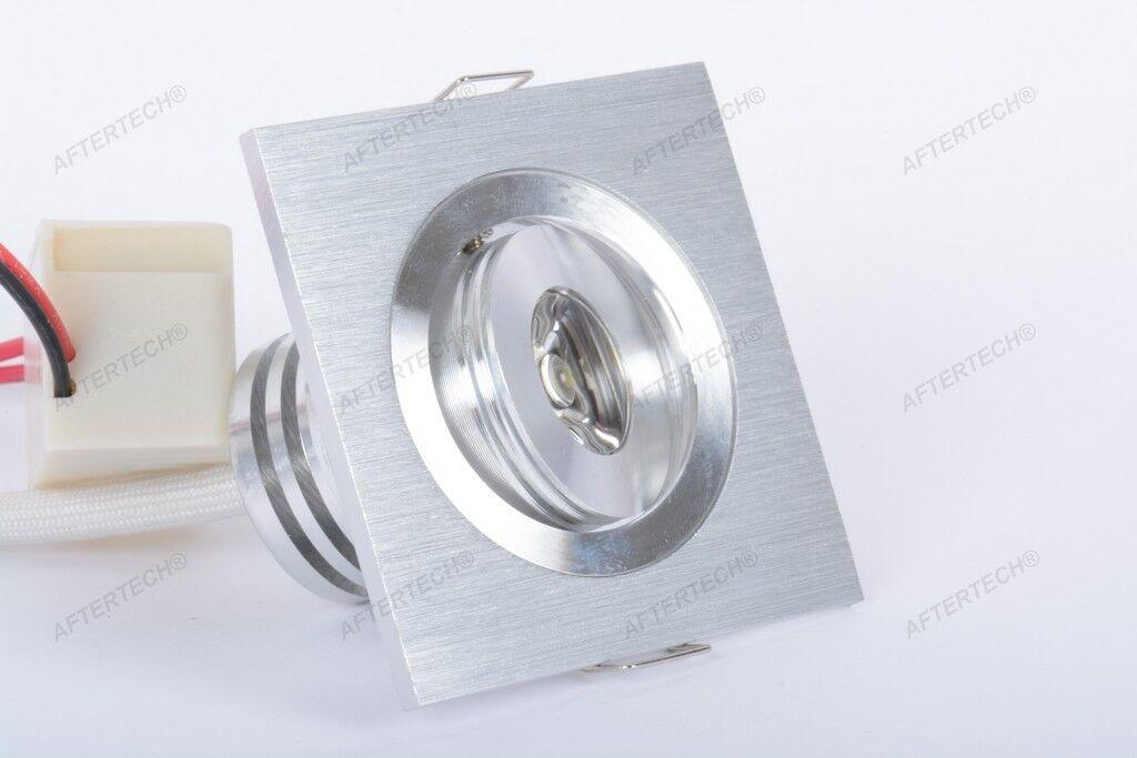 10 X Quadratisch 1x3w Mini Strahler LED Grünieft 30° Weiß Neutro Einstellbar