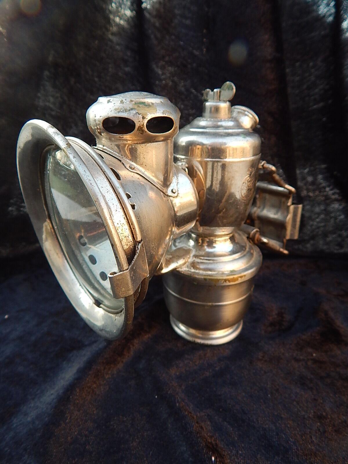 LAMPE CARBURE   Carbide lamp -  JOSEPH LUCAS - ACETA  - VELO   Bicycle