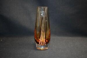 Caithness-Scotland-Amber-Brown-Striped-Vase