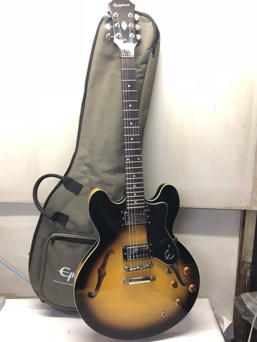 Epiphone DOT VS beutiful JAPAN rare useful EMS F S