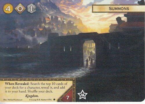 Summons AGoT LCG 2.0 Game of Thrones Alternate Art Promo