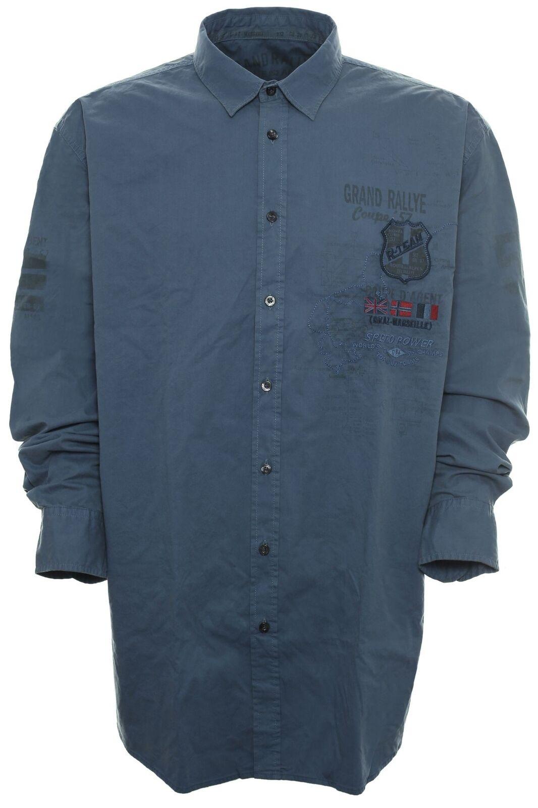 9e4bcba5e2 ... KITARO Chemise Décontracté Shirt Homme Manches Manches Manches Longues  Kent Col plusgröße grande taille 1135e4 ...