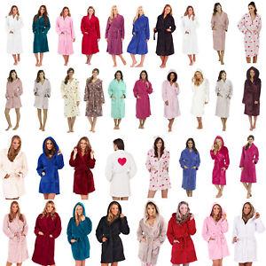 Ladies-Girls-Super-Soft-Hooded-Fleece-Dressing-Gown-Bathrobe-Robe-Size-8-30