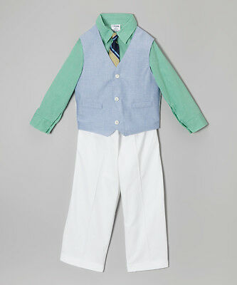 Boys IZOD suit outfit 12M 18M 24M NWT nautical dress shirt bow tie shorts boats