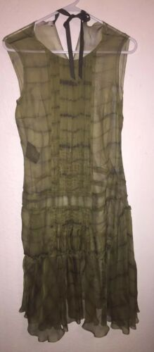 Prada green sheer dress worn once!