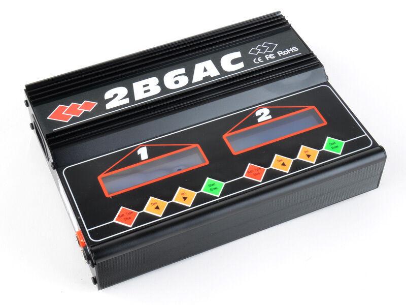 2B6AC 50W Caricabatterie Lipo NiMh Professionale Li-Po Ni-Mh Carica Batterie