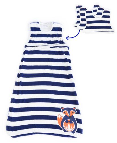 Blue /& White Fox Baby Sleeping Bag Organic Cotton 2.5 TOG size 0-6months 000 00