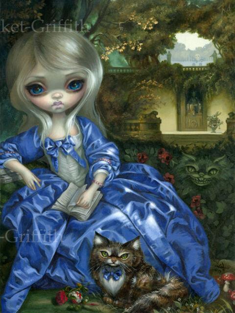 Jasmine Becket-Griffith art print alice cheshire SIGNED Daydreaming Wonderland