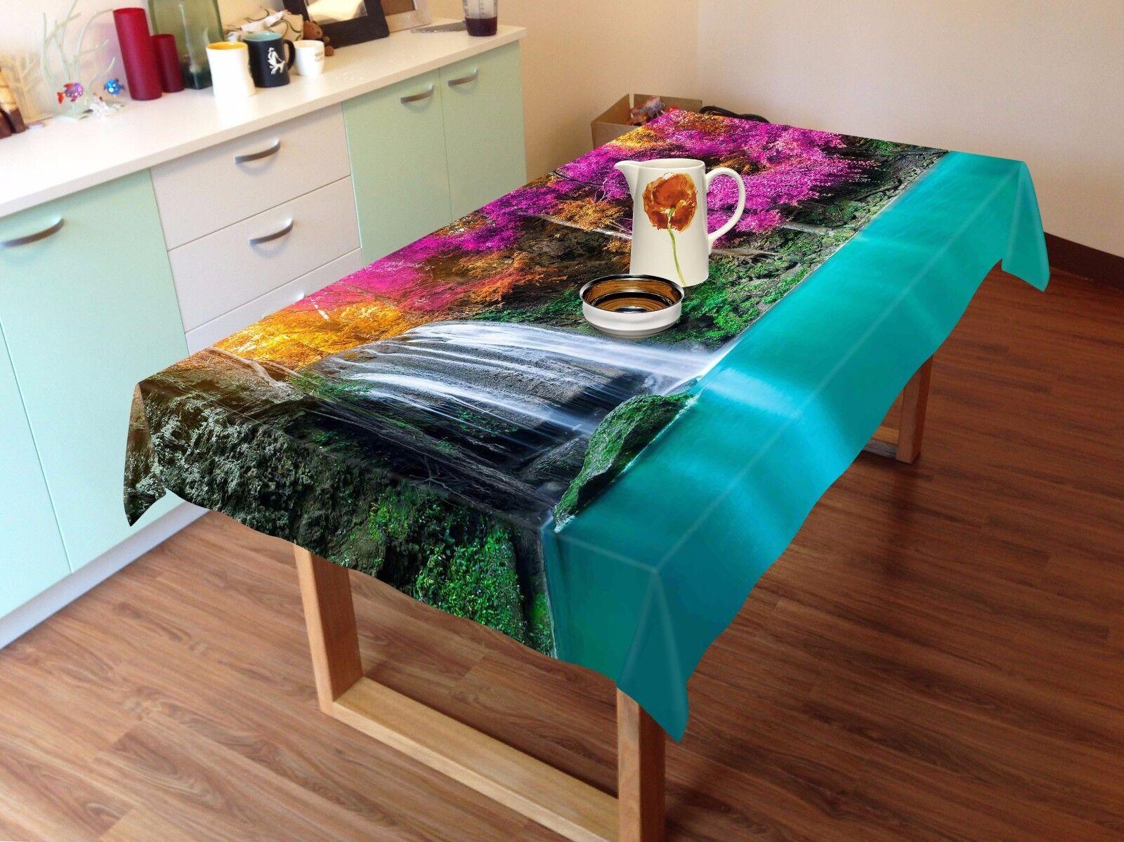 3D Squid 4 Tablecloth Table Cover Cloth Birthday Party AJ WALLPAPER UK Lemon