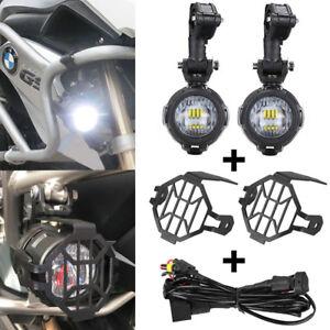 2x-FUR-BMW-R1200GS-ADV-40W-Nebelscheinwerfer-LED-Motorrad-Scheinwerfer-Lauflicht