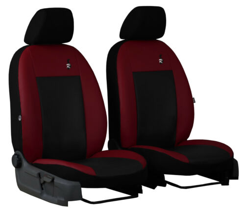 ECO LEATHER TAILORED FRONT SEAT COVERS MADE FOR MITSUBISHI L200 MK5 2015 ONWARDS