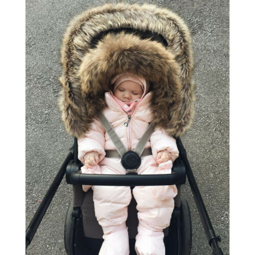 Toddler Baby Boy Girl Comfy Soft Romper Jacket Hooded Jumpsuit Thick Coat Outfit
