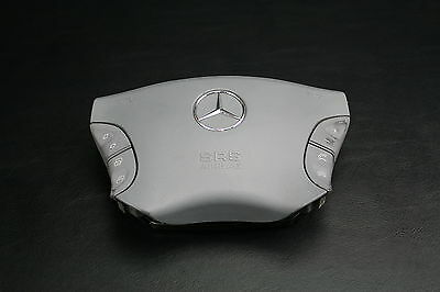 02  MERCEDES W220 S-CLASS S500 S600 S430  DRIVER SIDE LEFT AIRBAG AIR BAG GRAY