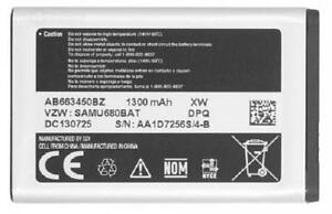 New-OEM-Samsung-Convoy-III-3-SCH-U680-SAMU680BAT-AB663450BZ-Original-Battery